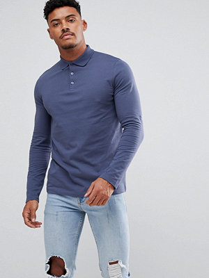 ASOS Jersey Long Sleeve Polo