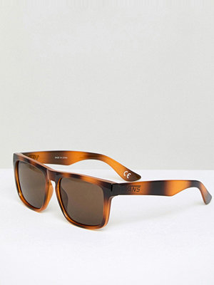 Vans Squared Off Sunglasses In Tortiose Shell - Brown tortoise
