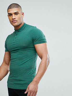 ASOS TALL muscle fit jersey polo
