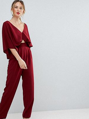 Asos Tall Jumpsuit with Kimono Sleeve and Peg Leg