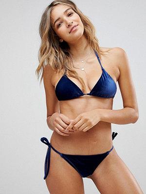 ASOS Mix and Match Velvet Triangle Bikini Top