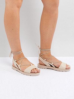 ASOS FIZZLE Wide Fit Jelly Tie Leg Sandals