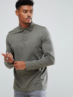 ASOS Benham Long Sleeve Jersey Polo