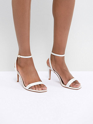ASOS DESIGN Half Time Bridal Barely There Heeled Sandals