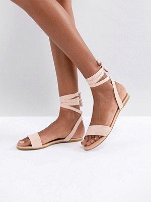 ASOS FIOLA Tie Leg Flat Sandals