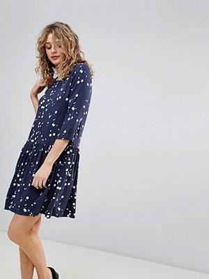 Ichi Printed Smock Dress