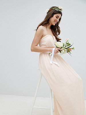 TFNC WEDDING Bandeau Maxi Dress