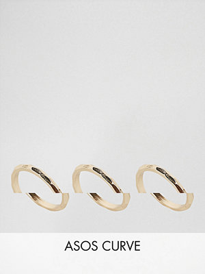 ASOS Curve Pack of 3 Faceted Rings