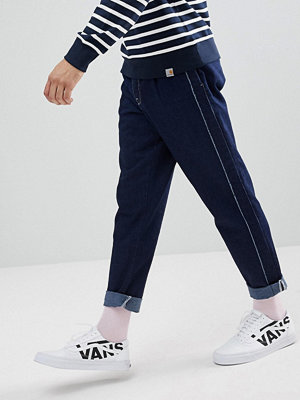 ASOS Double Pleat Jean In Recycled Cotton with Side Stripe