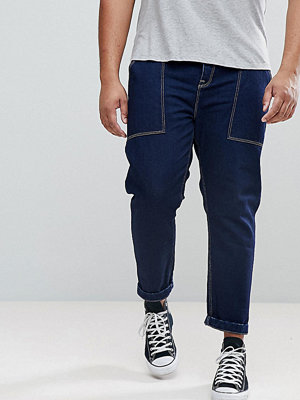 ASOS PLUS Tapered Jeans In Recycled Cotton