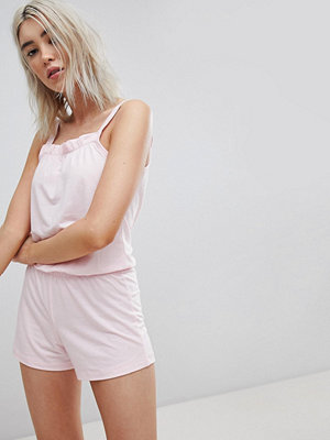 Lazy Days Blush Playsuit med volanger Blush