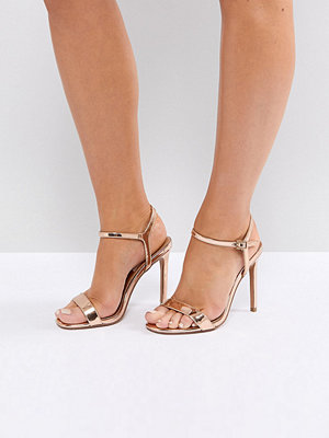 ASOS HANDS DOWN Wide Fit Barely There Heeled Sandals