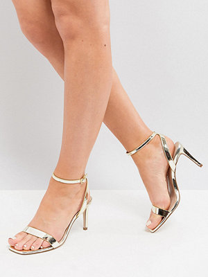 ASOS HALF TIME Wide Fit Barely There Heeled Sandals