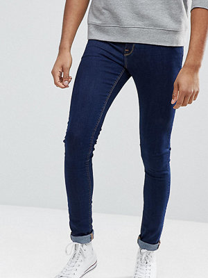 ASOS TALL Extreme Super Skinny Jeans In Raw Blue