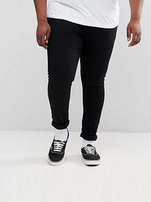 ASOS PLUS Extreme Super Skinny Jeans In Black