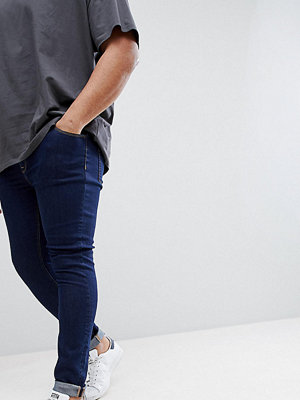 ASOS PLUS Extreme Super Skinny Jeans In Raw Blue