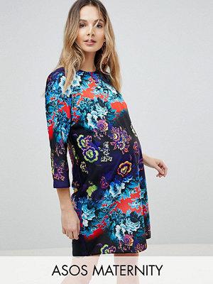 ASOS Maternity Floral Print Mini Shift Dress - Floral