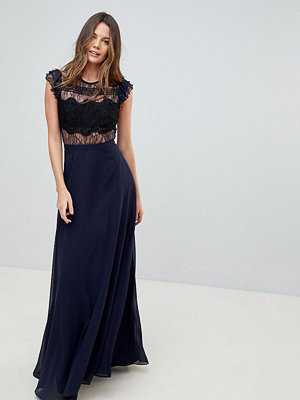 Asos Tall Lace Maxi Dress with Lace Frill Sleeve