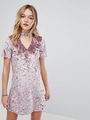 Hollister Crushed Velvet Choker Dress