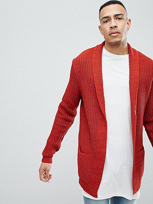 ASOS DESIGN Tall knitted cardigan in orange - Rust