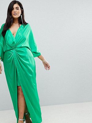 ASOS Curve Kimono Twist Front Maxi