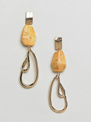 ASOS örhängen DESIGN resin and abstract metal drop earrings