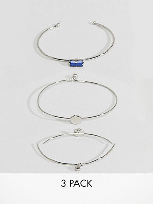 ASOS armband Pack of 3 Stone and Shape Cuff Bracelets