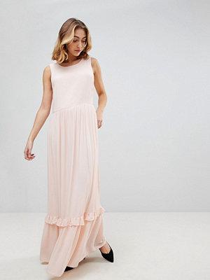 Selected Nora Sleeveless Maxi Dress - Creme de peche