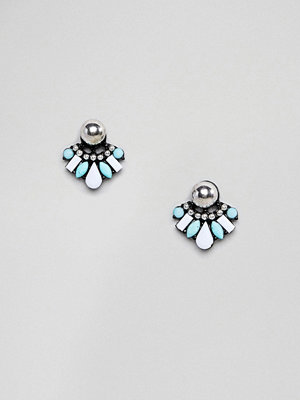 ASOS örhängen DESIGN Ball Stud and Jewel Swing Earrings