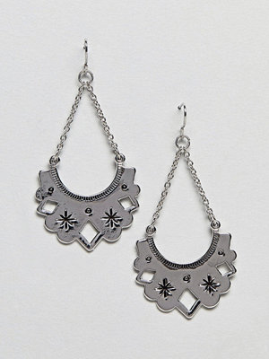ASOS örhängen Cut Out Flat Plate Drop Earrings