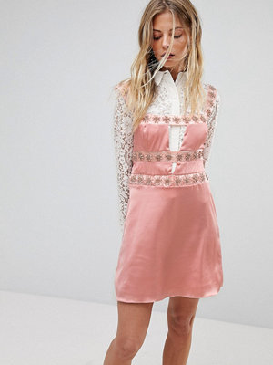 For Love & Lemons Opal Embellished Mini Dress - Blush diamond