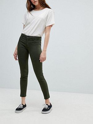 Bershka Jeans med extra smal passform Dark khak