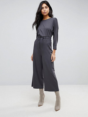 ASOS Jersey Jumpsuit with Toggle Waist and Batwing Sleeve