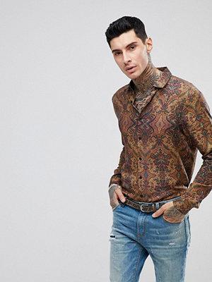 ASOS Regular Fit Viscose Tonal Print Shirt