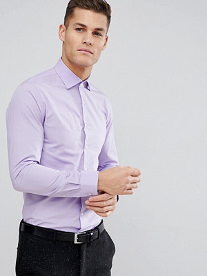 Michael Kors Slim Easy Iron Smart Shirt In Lilac - Lilac