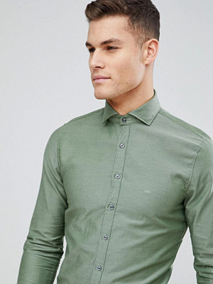 Michael Kors Slim Smart Oxford Shirt In Khaki - Khaki