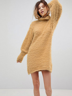 Free People Honey Roll Neck Jumper Dress with Mutton Sleeves
