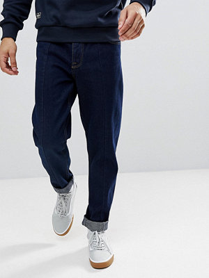 ASOS Relaxed Tapered Jeans In Indigo
