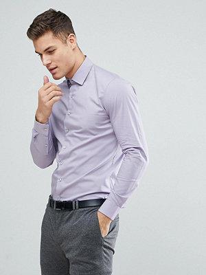 Calvin Klein Skinny Shirt In Lilac