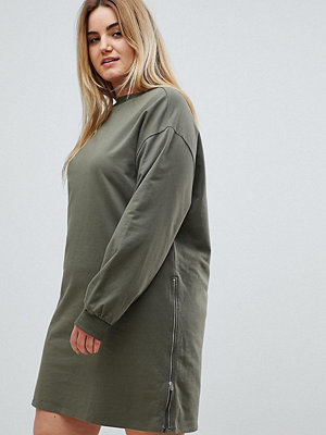 ASOS Curve Oversized Sweat Dress with Zip Detail