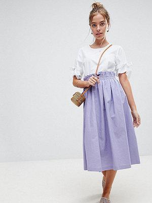 ASOS Petite Tailored Linen Prom Skirt - Lilac