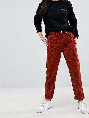 ASOS ORIGINAL MOM Jeans With Polka Dot Print in Rust - Rust