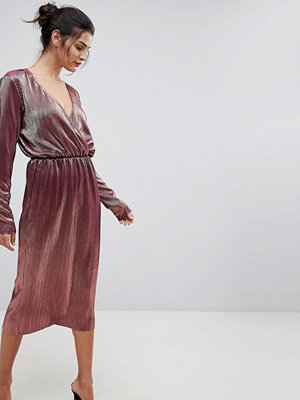 Y.a.s Metallic Wrap Midi Dress