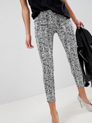 ASOS WHITBY Low Rise Skinny Jeans in Snake Print