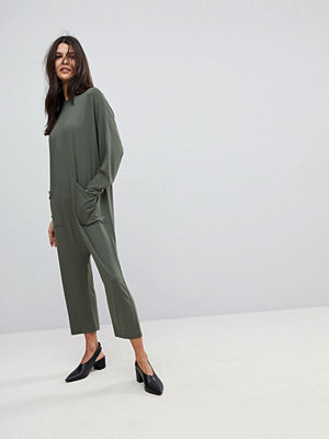 ASOS Minimal Jersey Jumpsuit with Batwing Sleeve