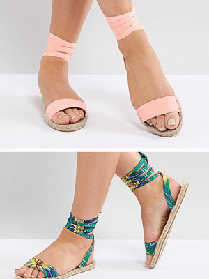 ASOS JENICA Two Pack Espadrille Sandals