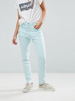Levi's 501 Skinny jeans med hög midja Stentvättad ljusblå