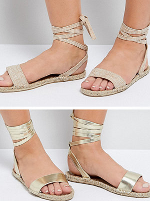 ASOS JENICA Two Pack Wide Fit Espadrille Sandals