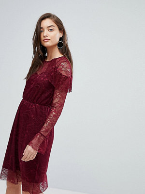 Warehouse All Over Lace Skater Midi Dress