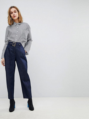 ASOS DESIGN alanis balloon leg denim trousers in raw indigo - Raw indigo